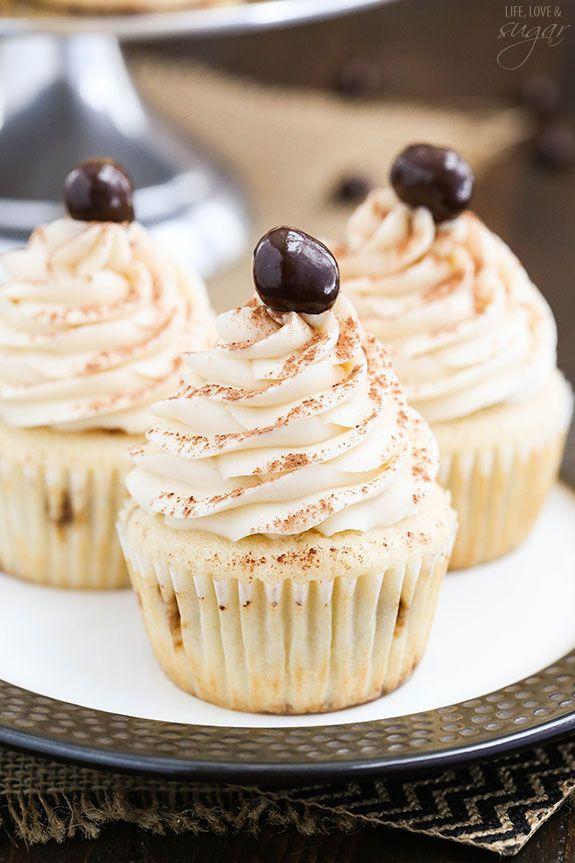 Tiramisu Cupcakes! So moist and just like eating individual tiramisu!