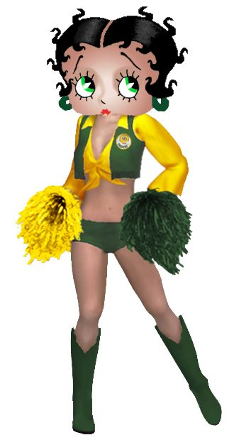 Betty Boop Packers Cheerleader Photo:  This Photo was uploaded by khunPaulsak. Find other Betty Boop Packers Cheerleader pictures and photos or upload yo...