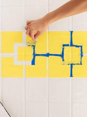 Update your shower/tub: Visit this site to see how to paint your tile.
