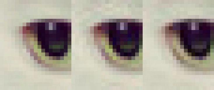 Guetzliによる圧縮画像とlibjpeg、オリジナル画像の比較