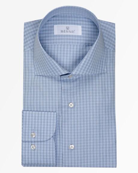İtalyan Yaka Mavi Kareli Gömlek / Spread Collar Blue Checked Shirt http://www.bisse.com/p-918-talyan-yaka-mav-karel-gmlek.aspx