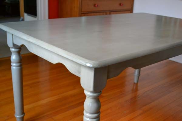 Gray painted dining room table DIY #painted #dining #table