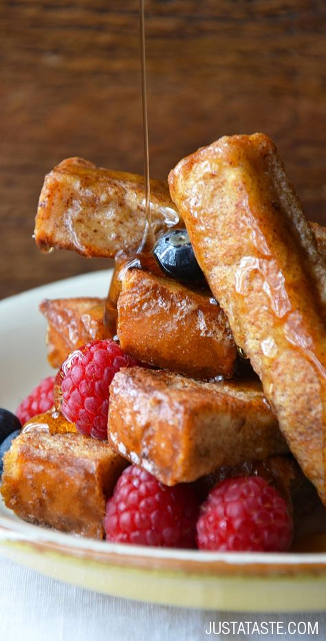 Easy Cinnamon French Toast Sticks #recipe on justataste.com