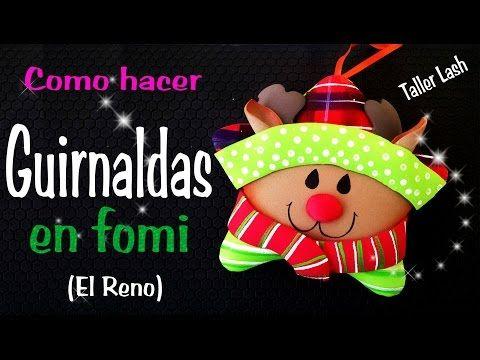 COMO HACER GUIRNALDAS EN FOMI (EL RENO) - YouTube