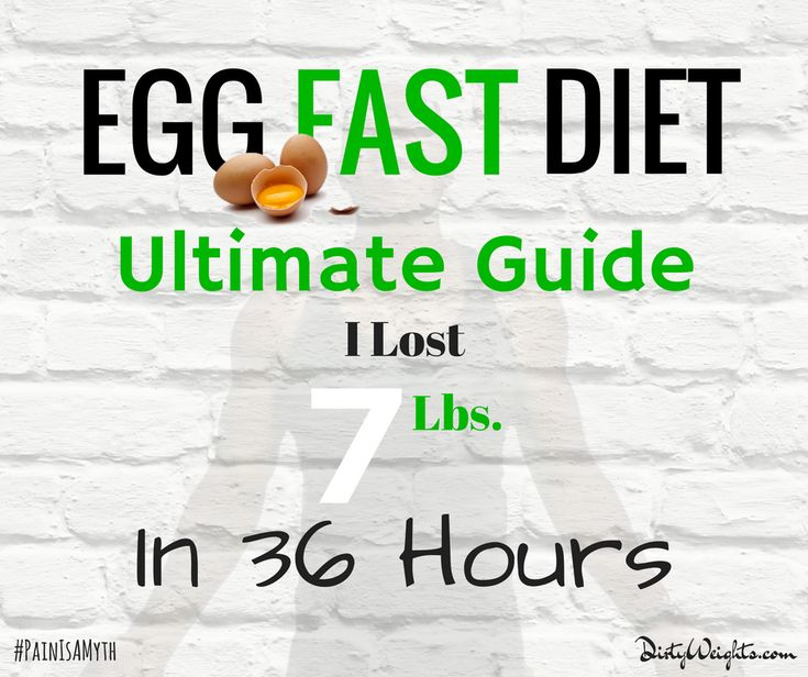 How I used the egg fast diet to shed 7 lbs in 36 hours. See massive results using the egg diet for weight loss. Bonus 28 day egg diet plan.