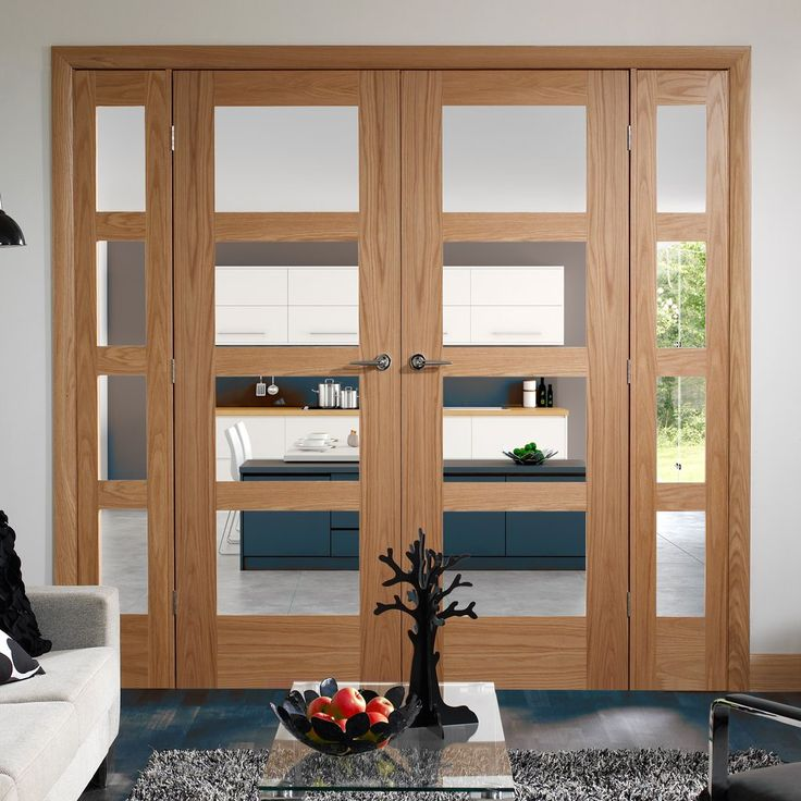 Easi-Frame Oak Door Set, GOSHA4L-COEOP1, 2005mm Height, 1910mm Wide. #glazeddoor #easiframes #doubedoorsandscreensglazed