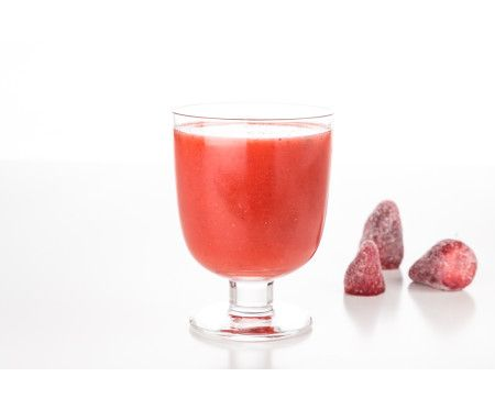 Färskpressad jordgubb- & limejuice