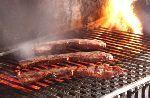 Barbecuehapjes met Breydelspek en Breydelham