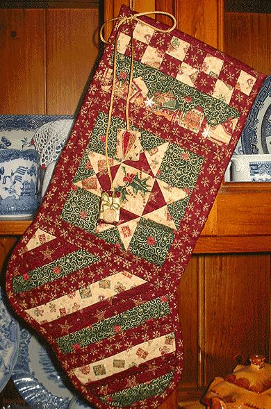 25 Unique Quilted Christmas Stockings Ideas On Pinterest