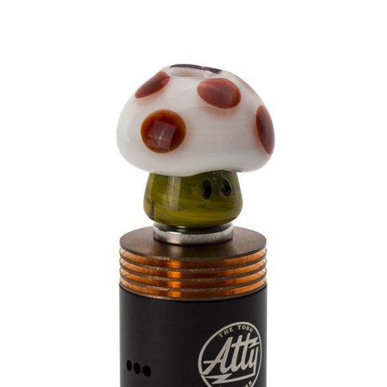 Red Mushroom Glass Drip Tip ~