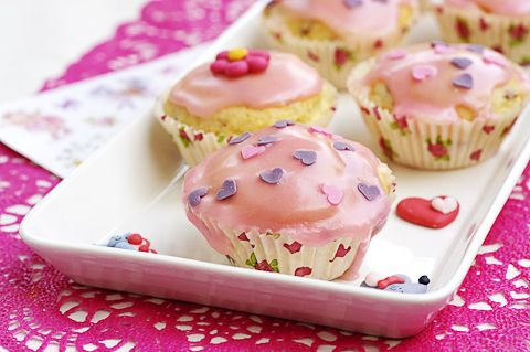Prinsessa Lillifeen mansikkajogurtti-muffinit