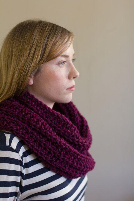 PreFall Sale Crochet Infinity Scarf by PreciousLambKnits on Etsy