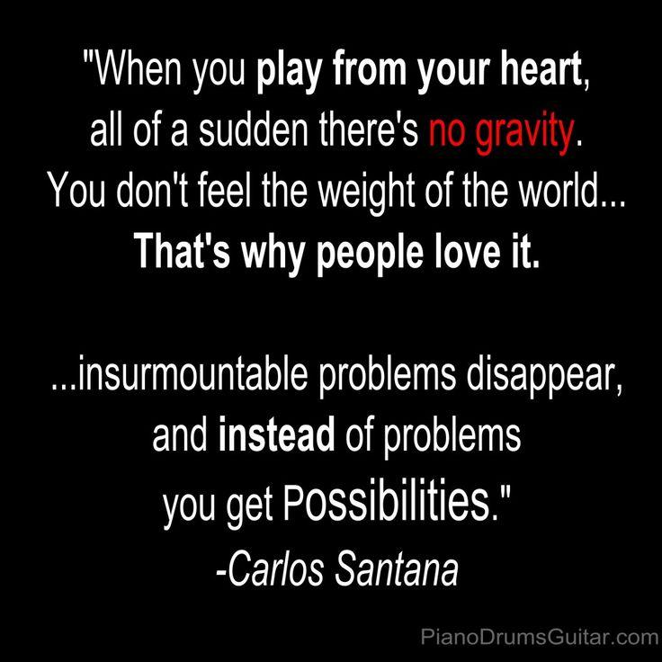 Carlos Santana Music Quote