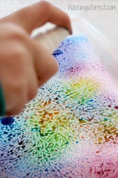 wax paper art