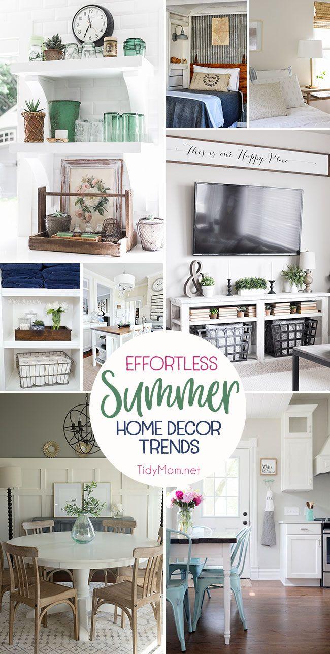 Effortless Summer Decor Home Trends