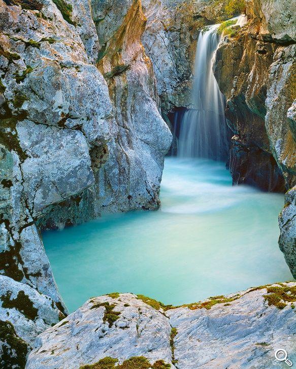 Soca Wasserfall   Andreas Resch – Naturfotografie