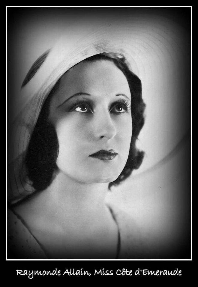 raymonde allain  miss c u00f4te d u0026 39 emeraude sera la miss france de 1927  elle parle couramment l