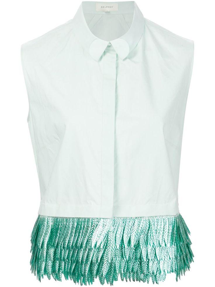 Delpozo fringed sleeveless shirt