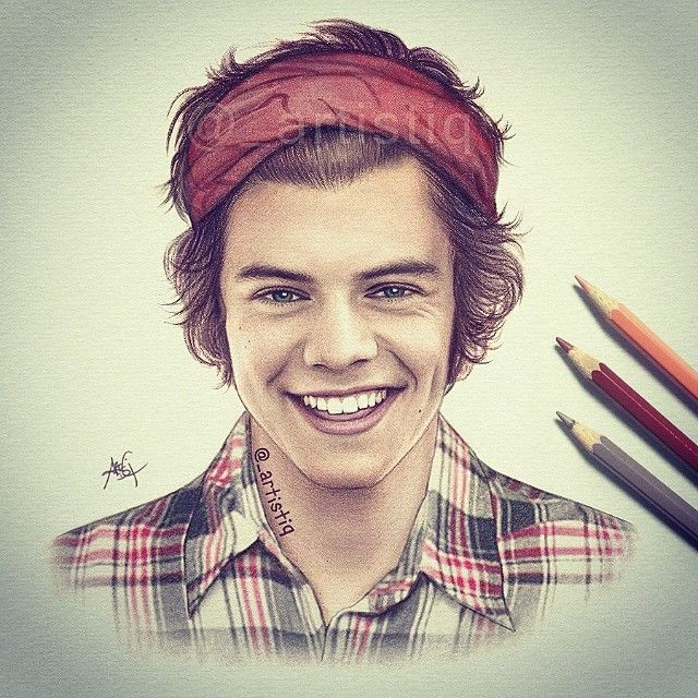 harry styles drawing profissional - Pesquisa Google