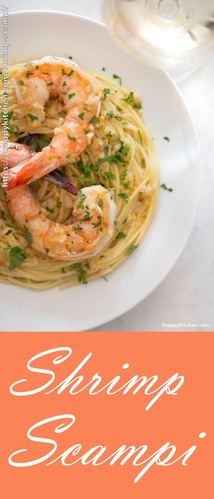 Easy Shrimp Scampi Pasta Recipe, The best shrimp scampi pasta recipe made with d…