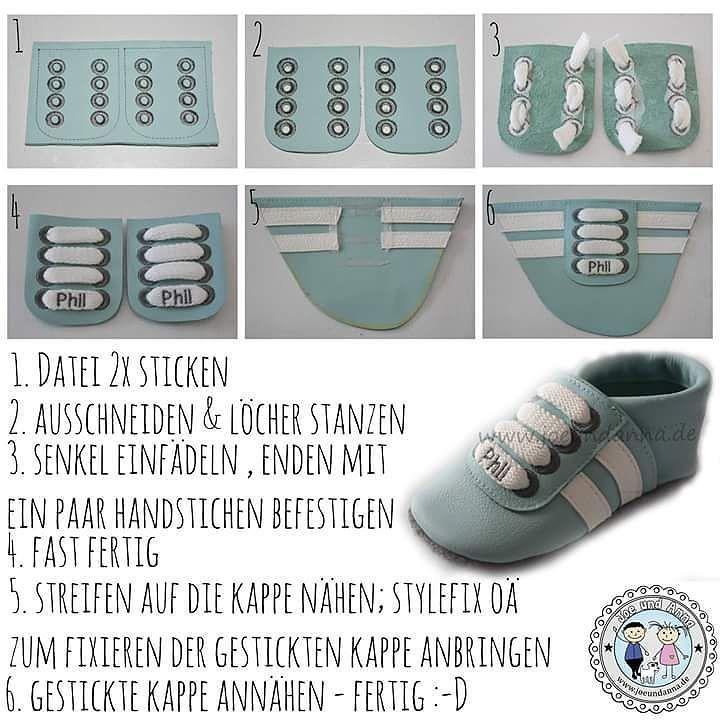 Hier mal eine kleine schnelle Anleitung zu den #Sneakers wie ich sie mache #Lederpuschen #puschennähen #Krabbelpuschen #Krabbelschuhe #puschenliebe #Puschen #Lederzuschnitt #puschenleder #joeundanna #love #iloveit #handmade #embroideryart #embroideryartist #embroiderymachine #babyleathershoes #leathershoes #leathercraft #DIY #dawanda #janome #ilovesewing #sneakershouts #sneaker #sneakernews # by joeundanna.de