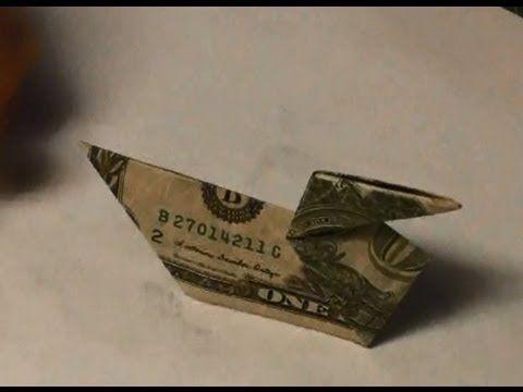 ▶ Easy Dollar Bill Origami Duck – Make a Moneyga…