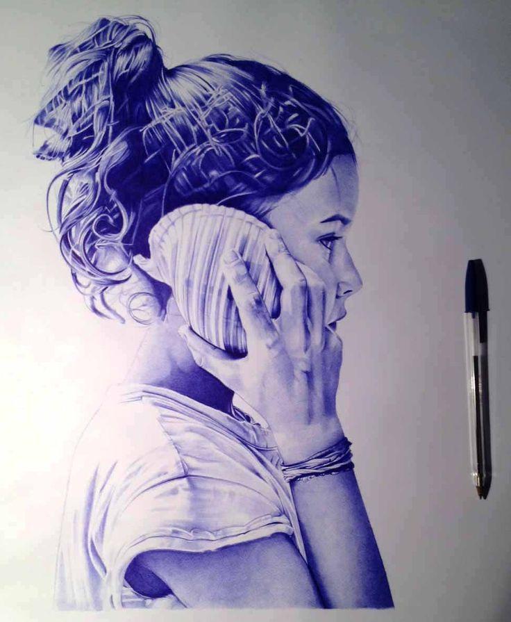 Ballpoint pen -penna biro- 40x50cm on paper www.facebook.com/felloni