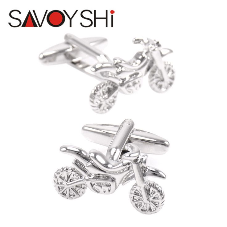 Jewelry Silver Motorcycle Cufflinks for Mens Shirt Brand Cuff buttons Wedding Cufflinks High Quality Free Shipping