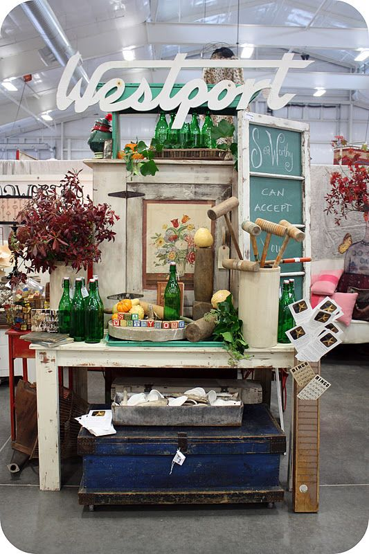 Cool idea for the store!! I love the layers and height in this booth display!