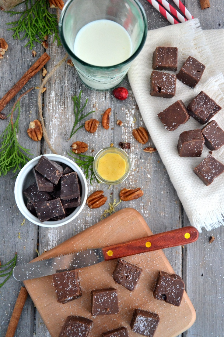 Holiday classic... easy-to-make fudge w/ caramel topping