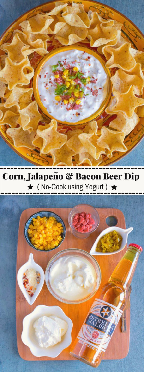 Corn, Jalapeno and Bacon Beer Dip