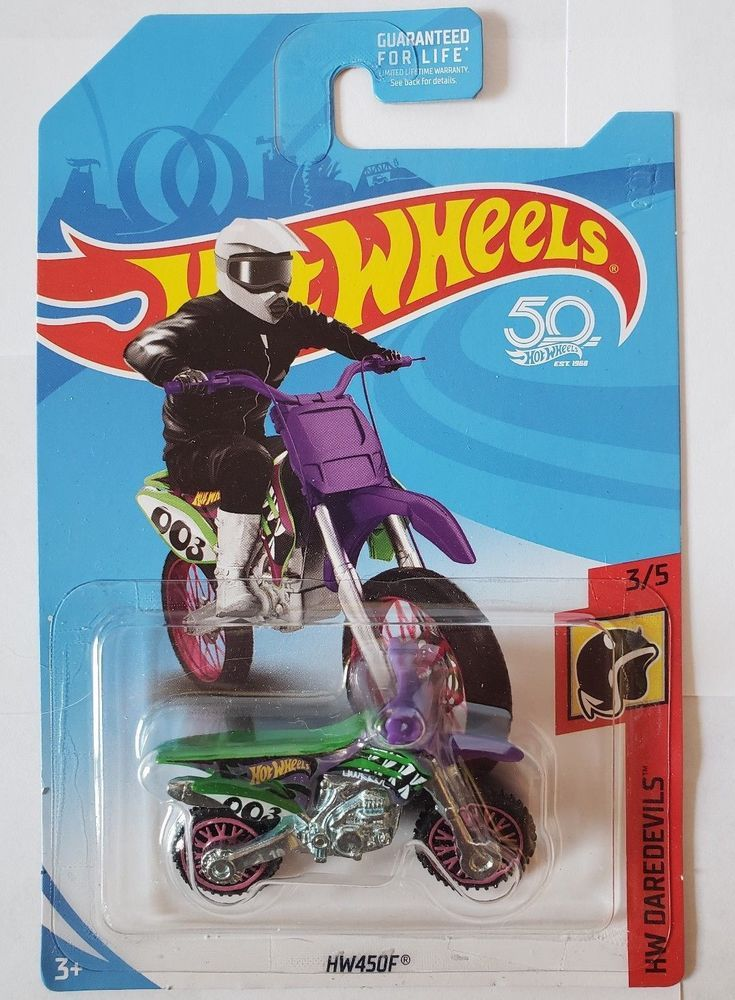 Hot Wheels 2018 50th Anniversary Hw Daredevils Hw450f Dirt Bike