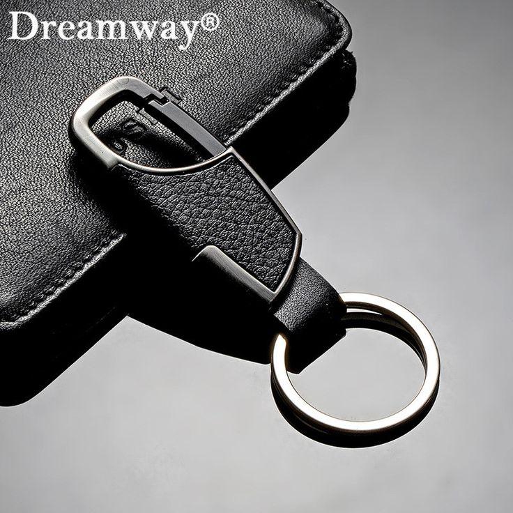 Real leather keychain business man belt buckles key chain key ring accessories birthday gift for boyfriend car key holder