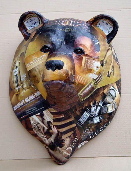 Nicole Jacobs  Aude Goalec | Animaux de la savane - like the idea of using colored magazine pages