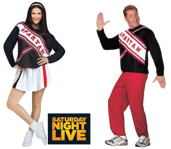 Spartan Cheerleader Costume (SNL Saturday Night Live) - Male or Female  Now you can become part of one of the funniest SNL skits in history when you wear one of these Spartan Cheerleader Costume.  Get your perfect cheer on as the East Lake High School Spartans!