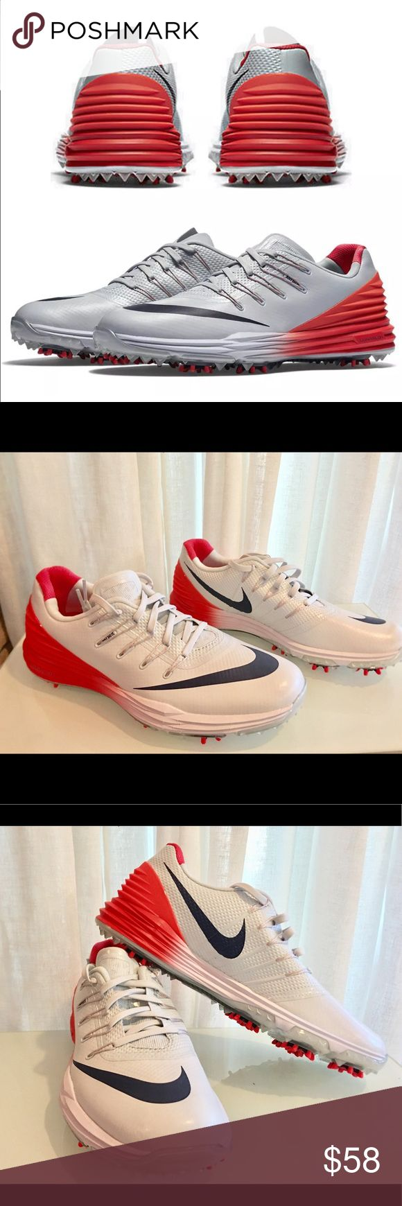 NIKE LUNAR CONTROL 4 WOMENS GOLF SHOES SIZE 9 NWOB NIKE LUNAR CONTROL 4 WOMENS GOLF SHOES SIZE 9 PLATINUM CRIMSON NAVY 819034-002 nike Shoes Athletic Shoes
