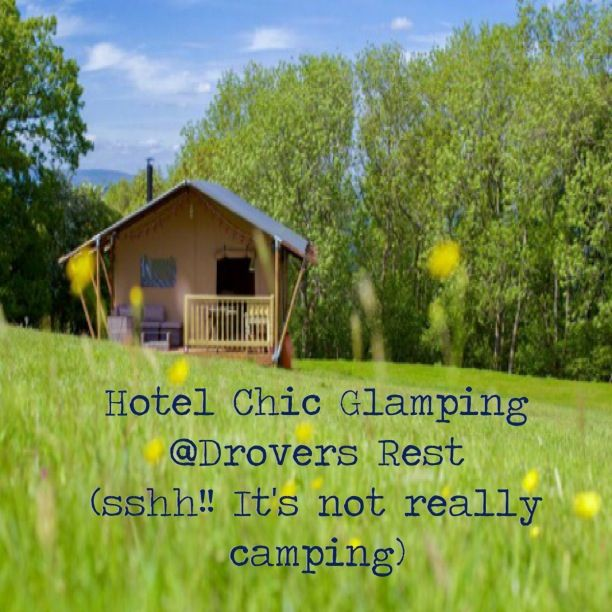 It really is not camping at all!! So posh. #glamping at Drovers Rest