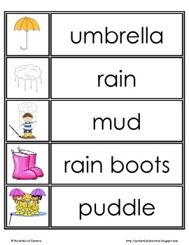 FREE spring words - writing center or cut apart for reading center matching game