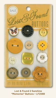 Fun idea - find an old button card, add an asst. of buttons! I want to do this and frame...anyone have any old button cards you don't want?!?!