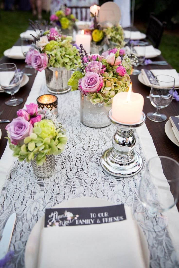 Romantic and Eclectic Purple and Green Wedding