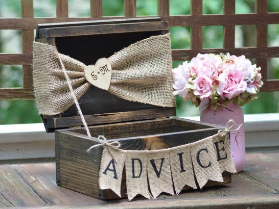 advice for the bride and groom rustic wedding by RedHeartCreations