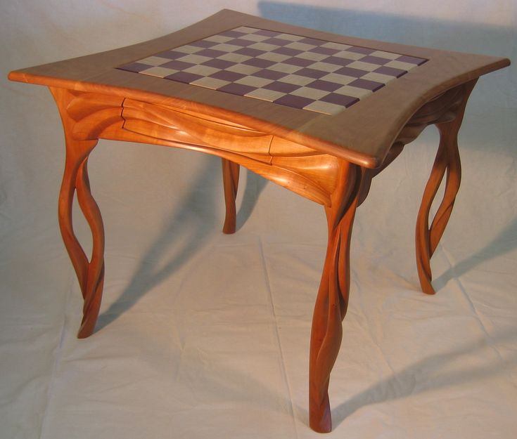 Chess Table With Chairs Enchanted Forest Cherry Curly