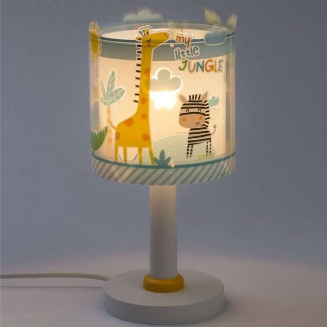 Children S Table Lamp From The Collection My Little Jungle It Has A Double Lampshade The Exterior Is Transparent With Vivid C In 2020 Table Lamp Lamp Kids