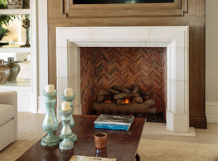 simple stone fireplace surround. Would do with slate gray ...