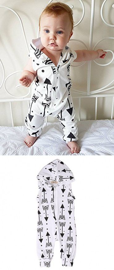 Newborn Baby Boys Girls Romper Jumpsuit Arrow Print Onesies Clothes Outfit (0~6months)