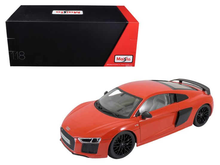 Audi R8 V10 Plus Red Exclusive Edition 1/18 Diecast Model Car by Maisto - Brand new 1:18 scale diecast car model of Audi R8 V10 Plus Red Exclusive Edition die cast car model by Maisto. Brand new box. Exclusive Collection Features:. Steerable front wheels that turn with the steering wheel. More coats of paint for richer colors. Unique collector's box (Closed box with foam on all sides) . Hood, doors and trunk open. Diecast metal bodies with some plastic parts. Four-wheel spring suspension…