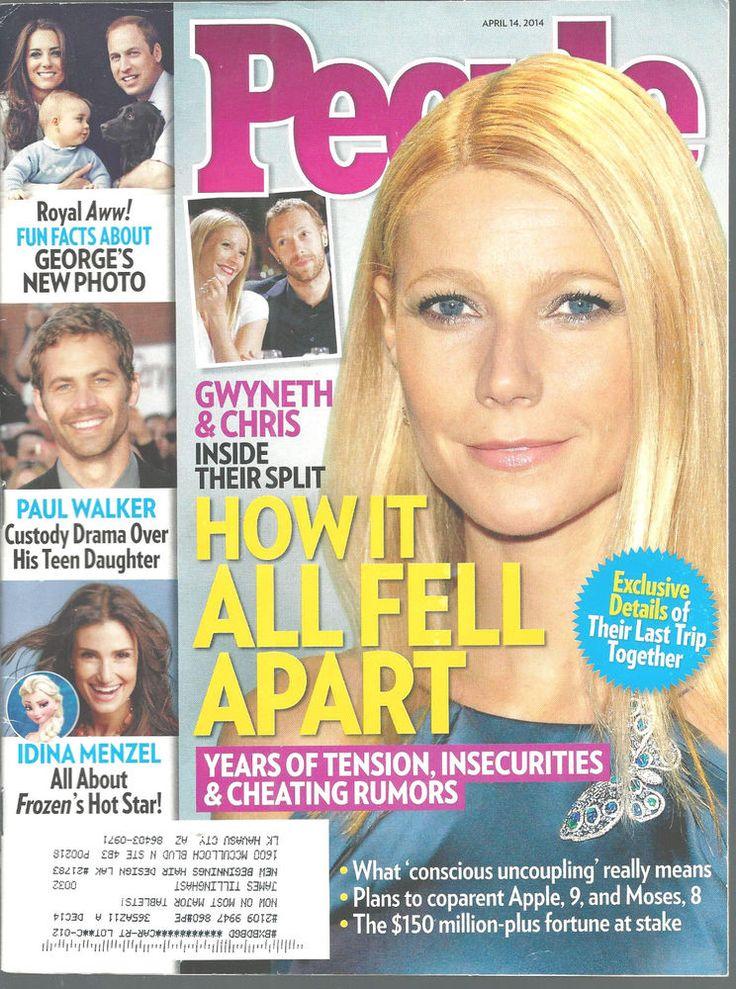 Gwyneth Paltrow Prince George Paul Walker Idina Menzel People Mag Apr 14 2014