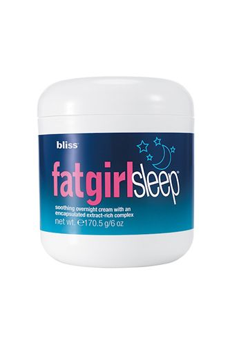 Not only does this slimming cream help smooth uneven skin texture while you sleep, it's packed with soothing aromatic lavender to help you drift right off. ♥ Bliss FatGirlSleep  $38 available at Sephora ♥