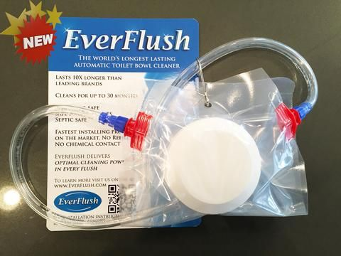 Keeps your toilet clean for an entire year.  For real, using one now, it's fabulous!