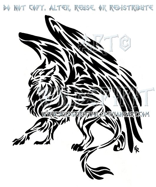 Here's 's completed tattoo of a maned dragon done in tribal style. Please do not copy, trace, alter, or redistribute this anywhere in any way, shape, or form! This design was created specifically f...